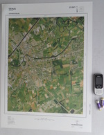 GROTE LUCHT-FOTO DEINZE ASTENE PETEGEM-AAN-DE-LEIE In 1990 48x67cm 1/10.000 ORTHOFOTOPLAN PHOTO AERIENNE LUCHTFOTO R711 - Deinze