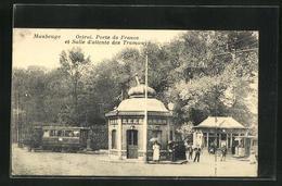 AK Maubeuge, Octroi, Porte De France Et Salle D`attente Des Tramways, Strassenbahn - Tramways