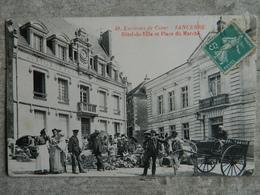 ENVIRONS DE COSNE   SANCERRE              HOTEL DE VILLE ET PLACE DU MARCHE - Sancerre