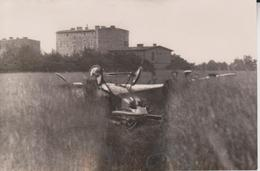 FLUGZEUG UNFALL NOTLANDUNG LANKWITZ STAAKENER SCHULFLUGZEUG BERLIN KORNFELD 17*11CM Fonds Victor FORBIN 1864-1947 - Aviación