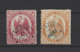 FRANCE.  YT  Timbres Télégraphe N° 5-7   Obl   1868 - Telegraphie Und Telefon