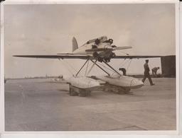 SCHNEIDER CUP RACE FELIXSTOWE SHORT BRISTOL SEAPLANE CRUSADER VENICE ITALY 20*15CM Fonds Victor FORBIN 1864-1947 - Aviación