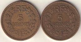 France 5 Francs 1939 & 1940 - France