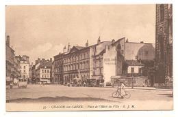 Chalon Sur Saone - Place De L'hotel De Ville - Autobus -   CPA° - Chalon Sur Saone