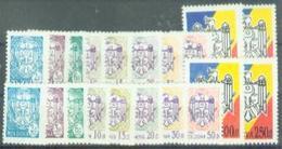 MD 1993-67-76 DEFINITIVE COAT OF ARMS, MOLDAVIA, 2 X 10v, MNH - Briefmarken