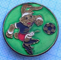 USSR / Badge / Soviet Union. Football UEFA European Championship Germany EURO'88 Talisman Rabbit. 1988 - Football
