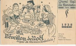 TOURS, Indre Et Loire - Menu De Réveillon 1938 Du Grand Café Du Commerce - Illustré Par RIKY - Menus