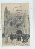 Poitiers (86) : La Sortie De La Messe à L'église ND Env 1907 (animé) PF. - Poitiers