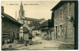 01 CULOZ ++ Eglise Et Place Dufour - Autres Communes