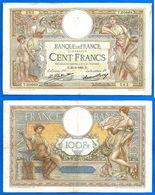 France 100 Francs 1928 25 Fevrier Prefix T Merson Frcs Frc Grand Billet Paypal Bitcoin OK - 100 F 1908-1939 ''Luc Olivier Merson''