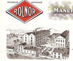 Facture 1/2 Format Photo Usine 1940 / 42 SAINT JULIEN En JAREZ / ROLLAND & NORRON / Manufacture De Saucissons ROLNOR - France