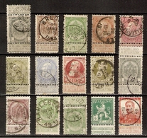 Belgique 1893/1912 - Petit Lot De 15° Avec Banderoles &- Cachets Ronds (1 MNH) - Armoiries - Léopold I/II - Albert Ier - Stamps