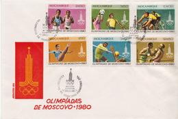 Mozambique Set On FDC - Zomer 1980: Moskou