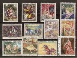 France 1963/80 - Tableaux  - Petit Lot De 20 MNH - Delacroix - Corot - Vlaminck - Degas - Derain - Seurat -  Rubens ... - Stamps