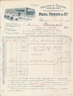 LE HAVRE, 76 - Paul Foret & Cie, Rhums & Tafias, 1907 - France