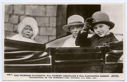 THE PRINCESS ELIZABETH, HUBERT LASCELLES AND ALEXANDER RAMSAY, 1927 - Royal Families