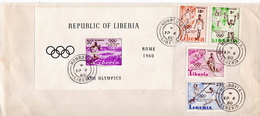 Liberia Set And SS On FDC - Estate 1960: Roma