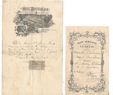 Petit Séminaire 70 LUXEUIL / 1903 Loyer DUFOUR / Prix Excellence 1902 A. THOMAS - France