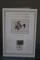 Feuillet Sur Soie/op Zijde - Floralies Gantoises IX - André Buzin - Timbres N° 2589/91 - + Ticket D'entrée - Feuillets