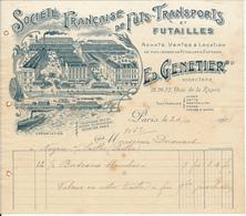 PARIS, 75 - Société Française De Fûts, Transports Et Futailles - Ed. Genetier, 1908 - France