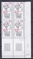 N° 2143 Centenaire De La Liberté De La Presse:: Beau Bloc De 4 Timbres Neuf Impeccable Sans Charnière - Unused Stamps