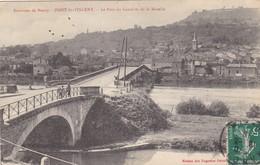 54. PONT SAINT VINCENT. CPA . LE PONT DU CANAL ET DE LA MOSELLE. ANNEE 1910 - France