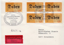 Germany Stamps On Express Card - [7] Federal Republic