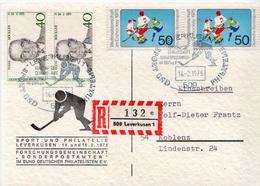 Germany Stamps On Express Card - Hockey (su Ghiaccio)