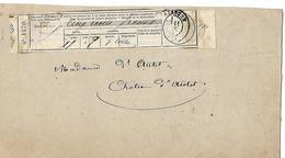 Bulletin De Dépôt De Cinq Cent Francs Par La Comtesse 70 Château D'Autet - France