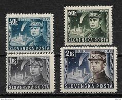 Slovakia 1939,General Stefanik,Scott # 34-37,VF Mint Hinged*OG (MB-11) ,STOCK IMAGE !! - Unused Stamps