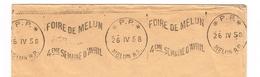 France. Flamme. Port Payé. Foire De Melun; 1958 - Poststempel (Briefe)