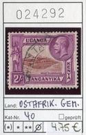 Tanganyika - Kenia - Kenya - Uganda - Ostafrikanische Gemeinschaft - Michel 40 - Oo Oblit. Used Gebruikt - - Kenya, Uganda & Tanganyika