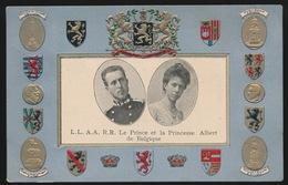 L.L.A.A.R.R. LE PRINCE ET LA PRINCESSE ALBERT DE BELGIQUE   RELIEF - Royal Families