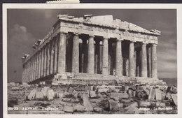 Greece PPC Athens - Parthénon 'COUVO' 1949 To ROGGWIL Schweiz Echte Real Photo Véritable Shiff Ship Stamps (2 Scans) - Griechenland