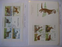 Irland/ Ireland- FDC Beleg Jagdbare Wildtiere Mi. 421-424, Irische Hunde Block 4 Mit Falz Mi. 510-514 - 1949-... Republic Of Ireland