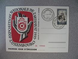 Carte FDC  De Luxembourg  1955    N° 494  Exposition Artisanales Nationale De Luxembourg   à Voir - FDC