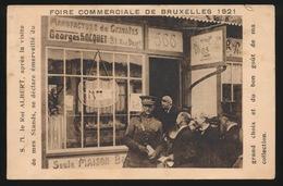 FOIRE COMMERCIALE DE BRUXELLES 1921 - S.M; LE ROI ALBERT APRES LA VISITE DE MES STANDS - Feiern, Ereignisse