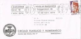 33232. Carta BARCELONA 1979, Rodillo Especial HOGAROTEL 19 - 1931-Hoy: 2ª República - ... Juan Carlos I