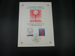 "BELG.1985 2161 & 2162 FDC Philately Card : "" Croix Rouge  / Rode Kruis "" - 1981-90"