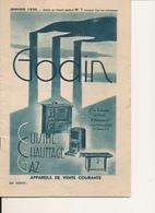 Catalogue GODIN, Janvier 1936 - Appareils De Cuisine, Chauffage, Gaz - 32 Pages - France