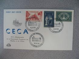 Enveloppe FDC  De Luxembourg  1956   N° 511 à 513  CECA -  Communauté Européenne Du Charbon Et De L'Acier   à Voir - FDC