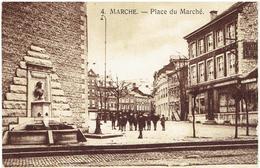 4. - MARCHE En Famenne - Place Du Marché - Fontaine Et Monument Ponthier - Marche-en-Famenne