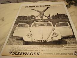PUBLICITE  VOITURE  VOLKSWAGEN  COCCINELLE 1961 - Cars