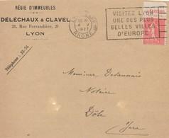 RR1   Lyon Gare  4 V 1927  22h30   - VISITEZ LYON UNE DES PLUS BELLES VILLES D'EUROPE   TB - France