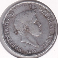 ITALIE. REGNO DELLE DUE SICILIE. 120 GRANA 1842. FERDINANDO II. ARGENT - Two Sicilia