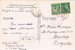 33235. Postal VINGRAU (Pyrenées Or) 1939. CENSURA Barcelona, Guerra Civil - 1931-Aujourd'hui: II. République - ....Juan Carlos I