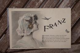 CPA - FRANZ - Art Nouveau - Femme / Lady - D. Hallet Charleroi - Poème - Acrostiche - Künstlerkarten
