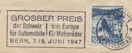 RR2  Bern 1 - 30 V 47  - GROSSER PREIS Von Europa Für Motorräder  -  Fragment De Lettre   TTB  Durso U35  (6) - Switzerland