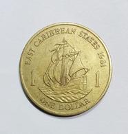 EAST CARIBBEAN STATES - One DOLLAR (1981) Queen Elizabeth II - Caribe Oriental (Estados Del)
