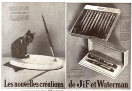 "PUB  STYLO-PLUME  "" JIF WATERMAN   ""    1930  (20) - Pens"